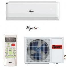 Aparat de aer conditionat KYATO, K12-ION++S, 12000 BTU, Clasa A++, Generator de ioni negativi, Auto restart, Somn confortabil, Afisaj ascuns (Alb)