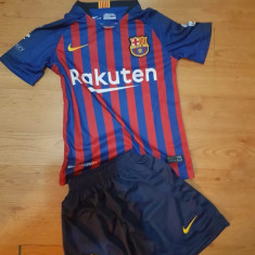 Echipament copii 4-16 ani FC BARCELONA, 10 MESSI, MODEL NOU 2018-2019 - Echipament fotbal, Marime: YXXL, YXL, YL, YM, YS, YXS, Set echipament fotbal