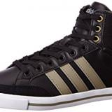 Pantofi sport Adidas neo Men's Cacity Mid Leather Sneakers, 42 2/3, Negru