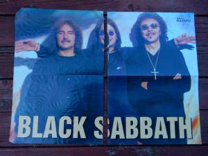 poster fata/verso 56/41cm Metal Hammer (Black Sabbath/Nightwish/Cradle of Filth)