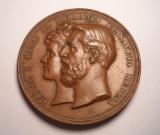 Medalie Regele Carol I si Regina Elisabeta - Manastirea Curtea de Arges 1886