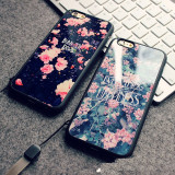 Husa Silicon, Mirror Acrylic Rose, iPhone 6/6S