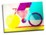 Tablou din aluminiu striat Coloured Geometry