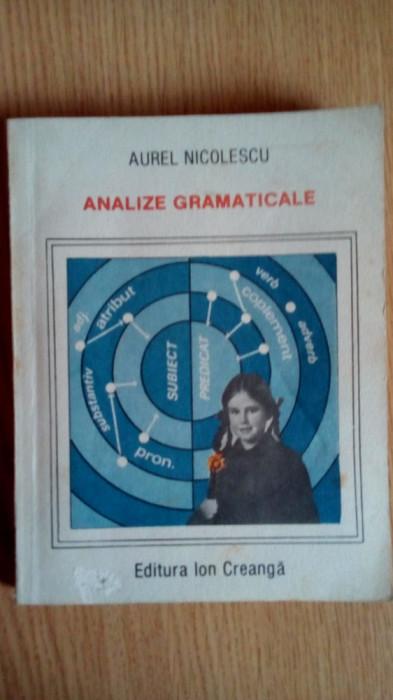 Analize gramaticale editia a 4 a - Aurel Nicolescu Editura Ion Creanga 1990 foto mare