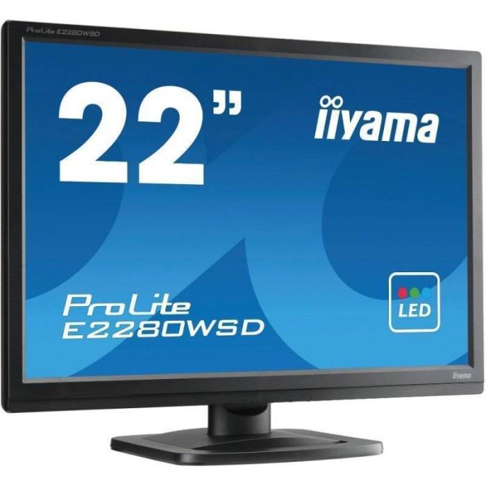 Monitor LED Iiyama ProLite E2280WSD-B1 22 inch 5 ms Black foto mare