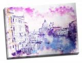 Tablou din aluminiu striat Pink Is The Sky Over Venice
