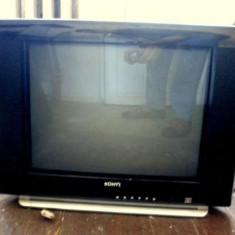 Televizor Ecran Plat Buntz 21 Color Television cu Telecomanda Original - Televizor CRT