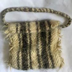 Straita, traista din lana, model Maramures,  20x25 cm, rustic, etno, traditional