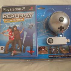Vand joc PlayStation 2,Real Play Puzzlesphere cu stick si sfera, sigilat!, Actiune