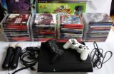 SET: CONSOLA Playstation 3, Kit complet Move, 48 jocuri impecabile, 2 joystick