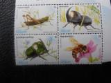 Serie timbre fauna animale insecte albine nestampilate Uruguay
