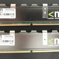 Kit ram ddr2, 2x2gb, 800ghz mushkin cu radiator - Memorie RAM