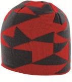 Caciula Highlander Beanie Hat, Rosu/Negru
