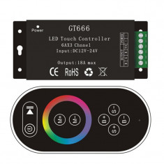 Controler LED RGB Wireless GT666 18A 12/24V, cod:10105850