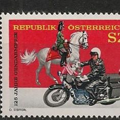 Austria 1974 - JANDARMERIA MOBILA, timbru MNH, B2 - Timbre straine, Nestampilat