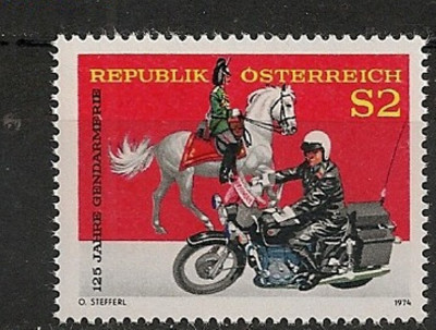 Austria 1974 - JANDARMERIA MOBILA, timbru MNH, B1 foto