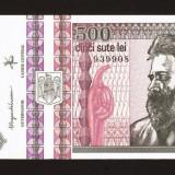 Romania - 500  Lei - 1992 ,  Filigran fata . Necirculata , UNC . Am consecutive