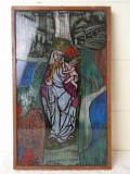 Tablou vitraliu Manufactura Olanda 1950