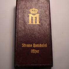 Cutie Ordinul Steaua Romaniei Ofiter Frumoasa