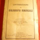 Gh.Adamescu -Contributie la Bibliografia Romaneasca -vol.1-Ist.Literaturii..1921