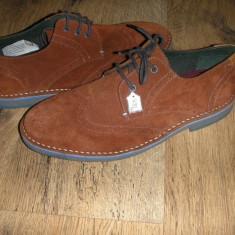 Superbi pantofi oxford barbat TED BAKER originali piele intoarsa caramiziu 41 - Pantofi barbat Ted Baker, Culoare: Teracota, Casual