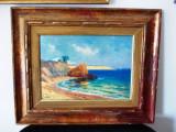"EUGEN GORSKI- ""Balcic"", ulei pe panza lipita pe carton, marina, Marine, Impresionism"