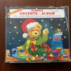 Das grose kinder advents album dublu disc 2 cd muzica copii limba germana 1995 - Muzica pentru copii