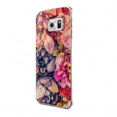 Husa Silicon, Ultra Slim 0.3MM, Floral, Samsung Galaxy S6