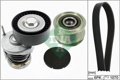 Set curea transmisie cu caneluri VW JETTA III (1K2) (2005 - 2010) INA 529 0098 10 foto