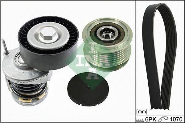 Set curea transmisie cu caneluri VW JETTA III (1K2) (2005 - 2010) INA 529 0098 10 foto mare