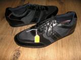 Pantofi barbat TED BAKER originali noi superbi foarte comozi piele+tesut 42/44, Negru, Piele naturala, Ted Baker