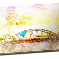 Tablou din aluminiu striat Sidney Opera House - Tablou pe metal