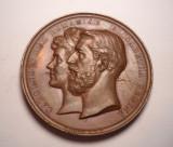 Medalie Regele CAROL I si Regina ELISABETA - Castelul Peles 1883