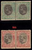 SPIC DE GRAU 1900 FARA FILIGRAN 1LEU SI 2 LEI IN PERECHE MNH, Nestampilat