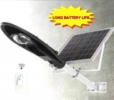 Stalp iluminat exterior panou solar si proiector LED 20w suport prindere inclus