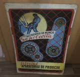 PLACA TABLA INDICATOR  ,, FERITI-VA DE ACCIDENTE,,  VINTAGE COLECTIE TABLOU 4