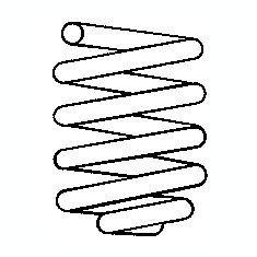 Arc spiral SEAT AROSA (6H) (1997 - 2004) SACHS 997 615 - Arcuri auto