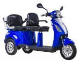 Tricicleta, scuter electric ideala pentru agrement si plimbari in statiuni ZT-18 TRILUX ALBASTRU