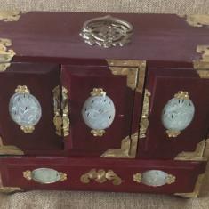 DULAP BIJUTERII CASETA LEMN BIJUTERII - Vaza sticla