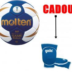 Minge de handbal Molten H2X5000, oficiala IHF + genunchiere Gala - Minge handbal
