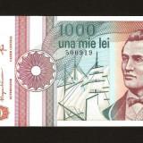 Romania - 1000 1.000 Lei - 1991 ,  Seria cu Punct . Necirculata , UNC .