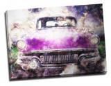 Tablou din aluminiu striat Purple Ride