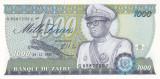 Bancnota Zair 1.000 Zaires 1985 - P31 UNC