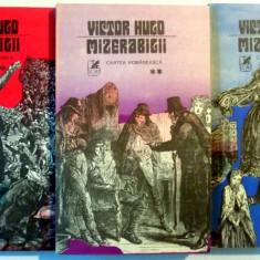 MIZERABILII, VOL I - III de VICTOR HUGO, 1981, EDITIA A II A - Roman