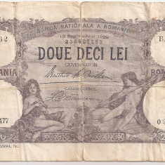 ROMANIA 20 LEI SEPTEMBRIE 1929 F