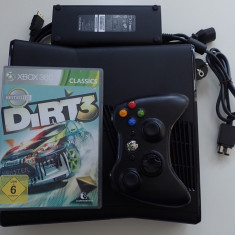 Consola Microsoft Xbox 360 S 250Gb Slim impecabil ca nou joc Dirt curse auto
