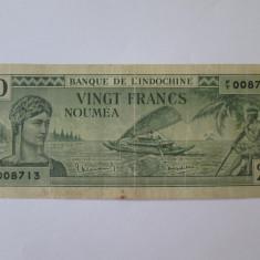 Raritate! Noua Caledonie/Noumea 20 Francs 1944 in stare buna