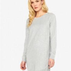 Rochie pulover asimetrica gri deschis cu buline - ONLY Alberte - Rochie de zi