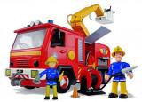 Pompierul Sam - Masina de pompieri Deluxe Jupiter cu 2 figurine