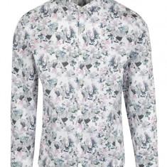 Camasa casual alba cu print floral - Lindbergh - Camasa barbati